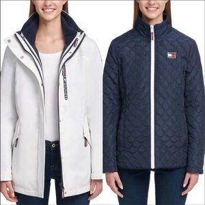 Tommy Hilfiger 3 in 1 white jacket